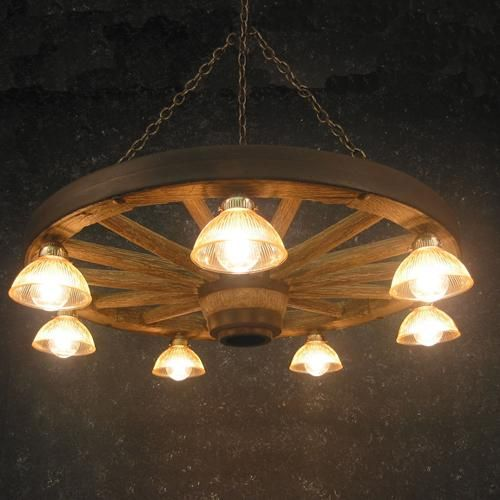 Lodge Lighting Fixtures Chandeliers | Replica Wagon Wheel Chandelier With  Down Lights