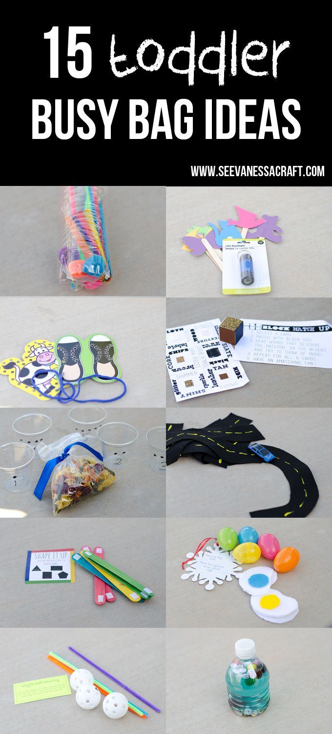 15 Toddler Busy Bag Ideas - these look great! So creative!