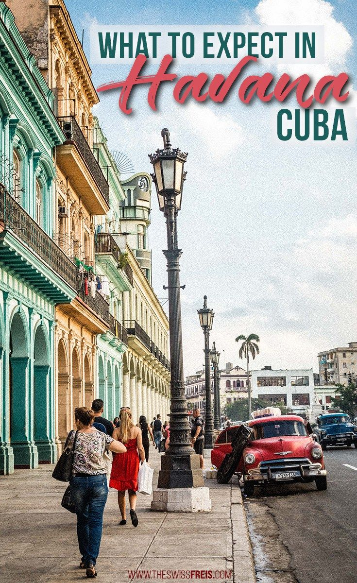 Havana Cuba; an eclectic blend of vintage and modern spiced with Caribbean flare makes it a city unlike any other. Find out what you should expect on your visit to this lively city! via www.theswissfreis.com #Cuba #Havana #Caribbean #Travel