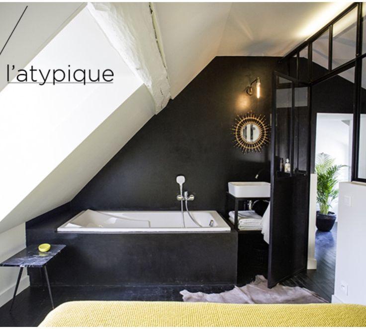 20 best SDB images on Pinterest Showers, Attic spaces and Bathroom - refaire un plafond de salle de bain