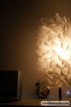 Fabriquer une lampe en plumes