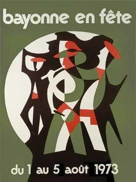 Affiche des fêtes de Bayonne en 1973