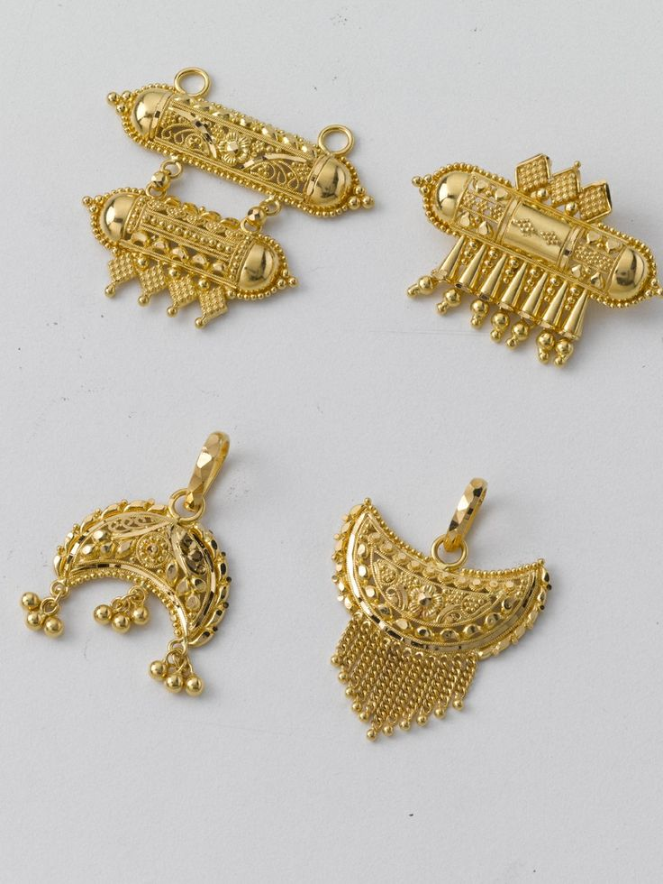 Pendants galore !! Super light, and in every possible shape and design. The perfect gift, in pure 22K hallmarked gold.  A) 1# 4.500 gm and price Rs. 14,800/ 2# 3.500 gm sand price Rs.11,500/- 3# 3.000 gm and price Rs. 9,800/- 4# 2.800 gm and price Rs. 9,250/-