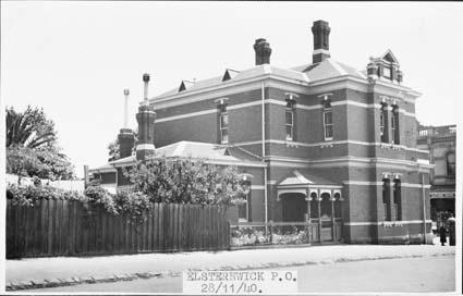 Back of Elsternwick Post Office 1940