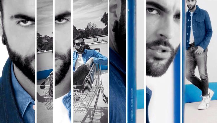 Blue could be the new black #marcomengoni #iotiaspetto #lucafinotti #blue #black #collage #photoshop