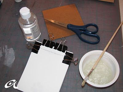 """Padding Compound: Tutorial for making the """"glue"""" that makes pads of paper stick together at the top. Great way to make personalized stationery goods to give or keep!"""