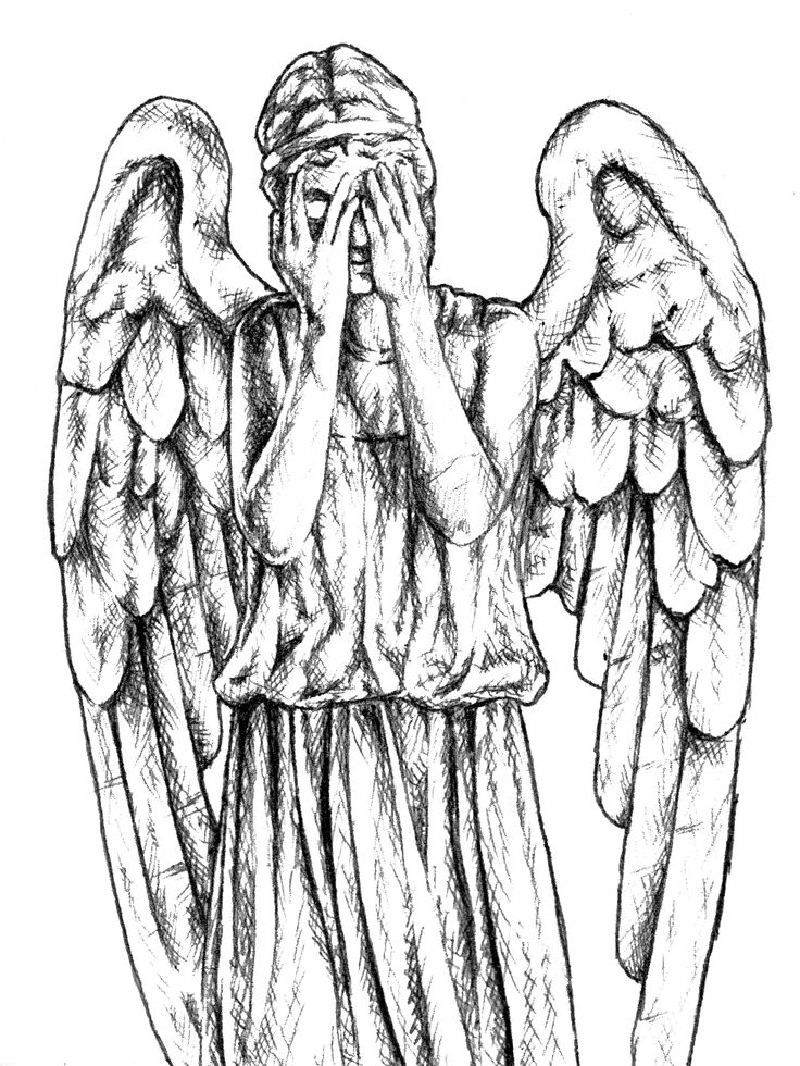 Doctor Who Weeping Angels Sketches