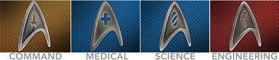 Star Trek Insignia Pins - To Boldly Pin Where No One Has Pinned Before $9.99