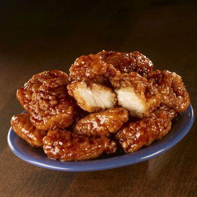 Copycat recipe - KFC Honey BBQ Wings-- Ingredients: 2 cup bbq sauce 3/4 cup honey 1 cup all purpose flour 1 tsp salt 1/2 tsp black pepper 2 tsp chicken powder 20 chicken wings Oil for deep frying