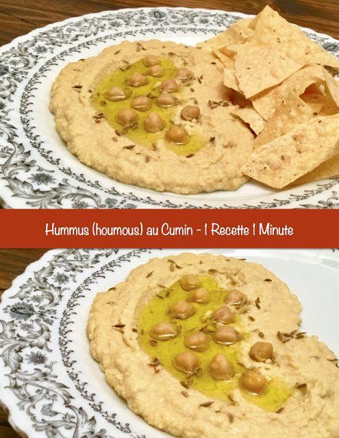 Hummus (houmous) au Cumin et à l'Ail Rôti à la poêle