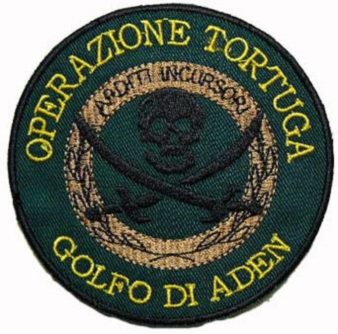 Patch Missione Italiana Antipirateria Operazione Tortuga Arditi Incursori Verdon