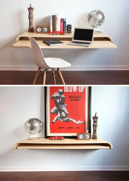 Escritorio flotante, minimalista | 10 escritorios de diseño • Float desk by botanist