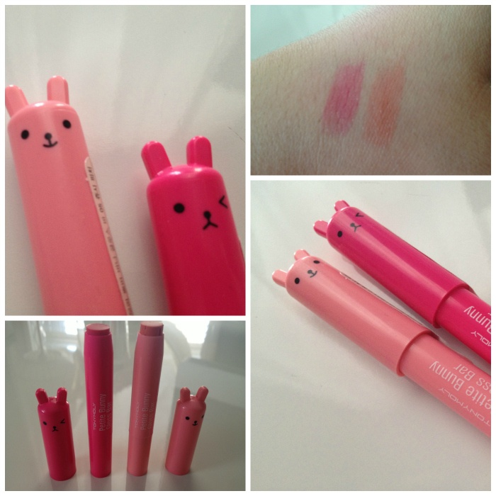 TONYMOLY Petite Bunny Gloss Bars. I love these! They smell good and are really cute. I want to get them all! So far I have 5!