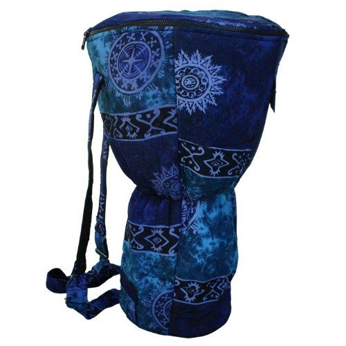 X8 Drums & Percussion X8-BG-BLUE-XL Djembe Backpack Bag with Blue Celestial Design, XL - Click image twice for more info - See a larger selection of red  backpacks at http://kidsbackpackstore.com/product-category/red-backpacks/. - kids, juniors, back to school, kids fashion ideas, teens fashion ideas, school supplies, backpack, bag , teenagers girls , gift ideas, blue