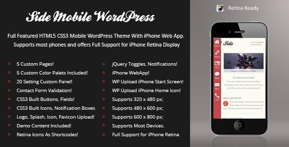 Side Mobile Retina | WordPress Version - Mobile WordPress