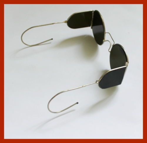 30s-New-WW2-USSR-Military-Sunglasses-with-Side-Shields-Steampunk-goggles-scratch