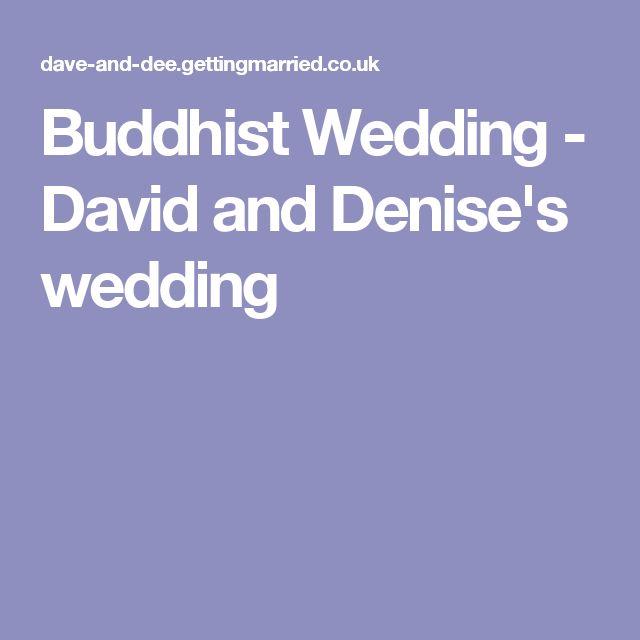 Buddhist Wedding - David and Denise's wedding