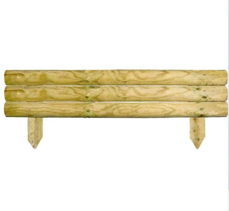 Best 25 landscape timber edging ideas on pinterest for Log garden edging