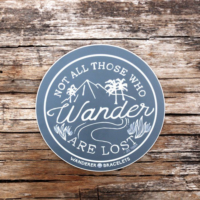 """Not all those who wander are lost."" In fact, we think they might be on to something. Enjoy the journey with a custom Wanderer Bracelets sticker. ""From Bali with Love"" is 1.75 inches wide & 3 inches l"