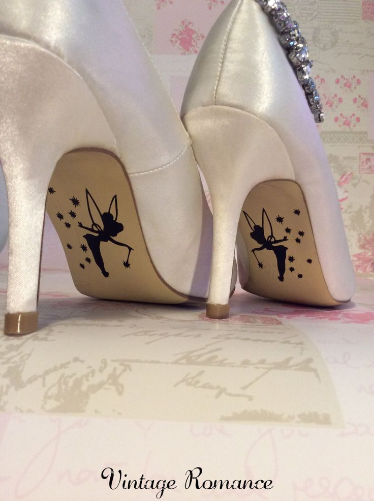 Disney wedding day shoe sole vinyl decals / stickers Tinkerbell by vintageromance2015 on Etsy https://www.etsy.com/listing/230732314/disney-wedding-day-shoe-sole-vinyl