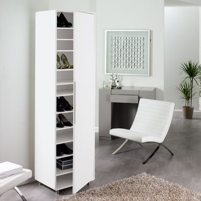 Merveilleux Click To Zoom   Monza Tall Shoe Storage Cupboard White