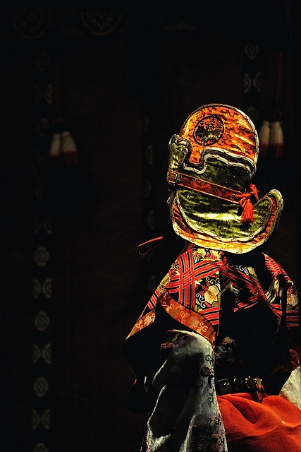 Traditional costume for Bugaku (Japanese ancient dance) at Kasuga-taisha shrine, Japan