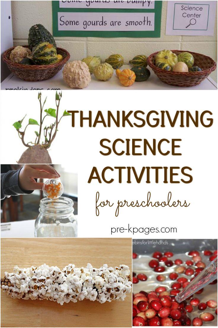 Thanksgiving Science Activities for Preschoolers