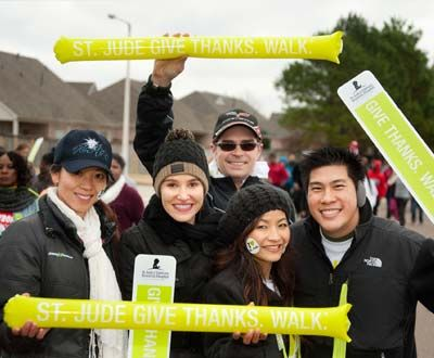 On Saturday, November 22, supporters in more than 65 communities across the country will participate in the St. Jude Give thanks. Walk. This exciting, family-friendly event helps raise funds to support the lifesaving mission of St. Jude Children's Research Hospital. Your donations are greatly appreciated!
