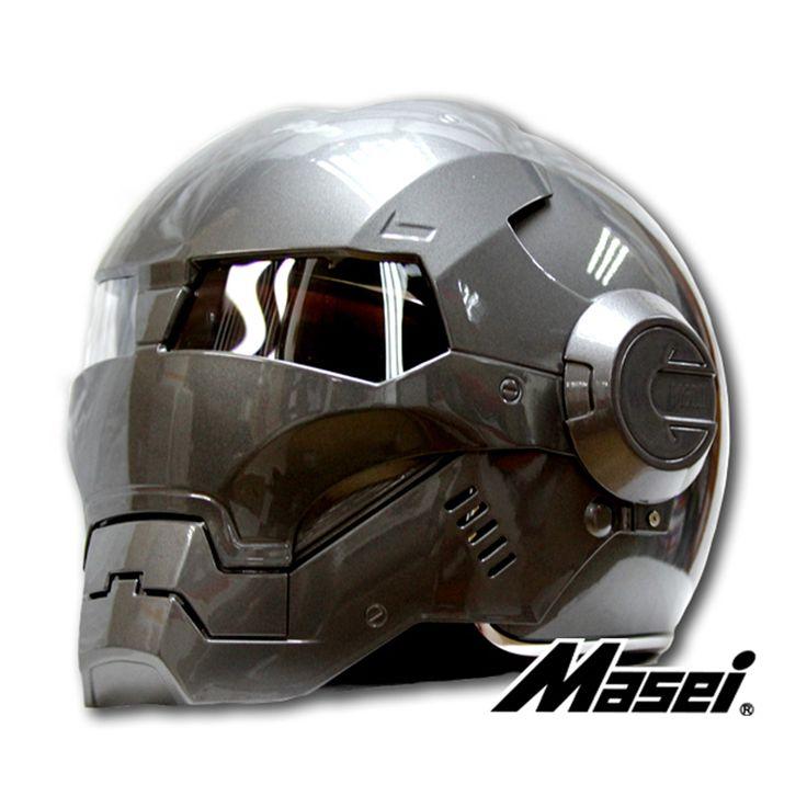 2015 mens womens masei ironman motorcycle helmet full face. Black Bedroom Furniture Sets. Home Design Ideas