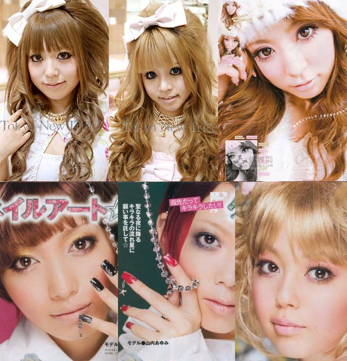 """I love love love the """"doll makeup"""" that's popular in Japan.  The lolita hair is super cute too."""