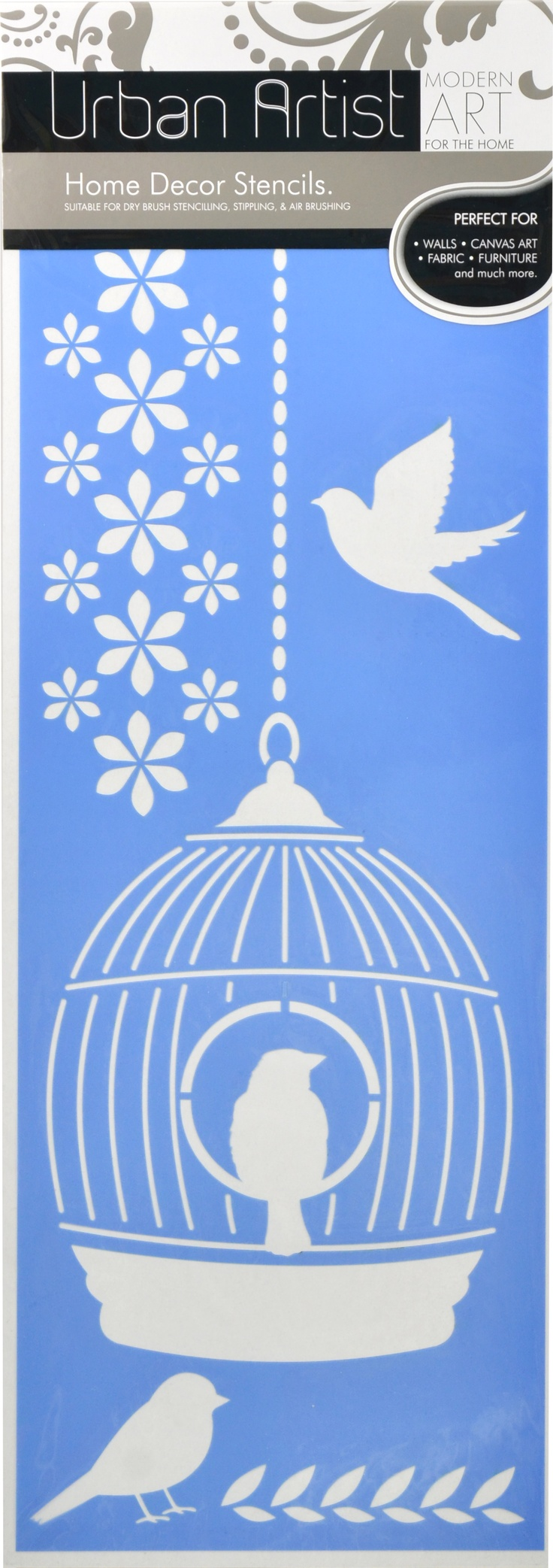 Have you tried our Urban Artist Stencil Range? This is one of our favourites: Bird Cage $8.99!