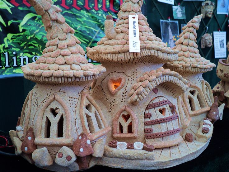https://flic.kr/p/9vFCHW | Fairy mushroom house | Fairy mushroom houses made of Stoneware by dingleydwellings.co.uk, so cute and amazing attention to detail
