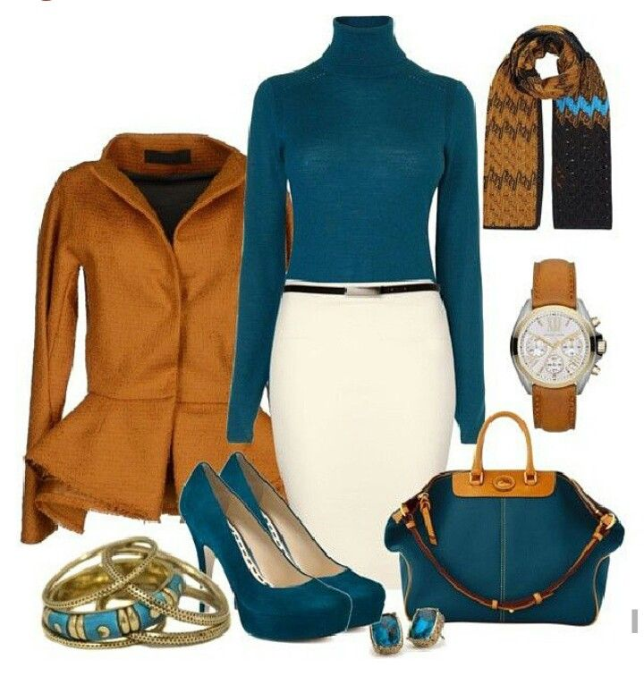 Cream orange teal business attire pinterest for Shirt and pants color combinations