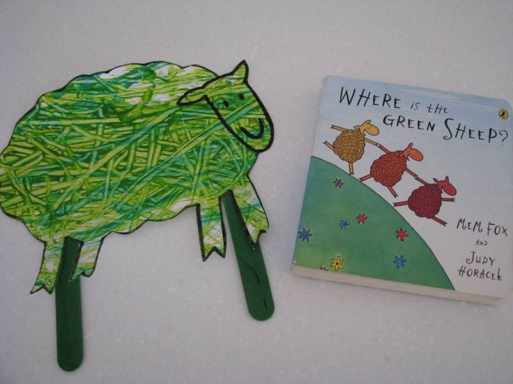 Green Sheep Activities - LOVE this book, one of my favorite storytime books!