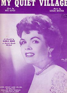 darla hood | VINTAGE-SHEET-MUSIC-DARLA-HOOD-MY-QUIET-VILLAGE