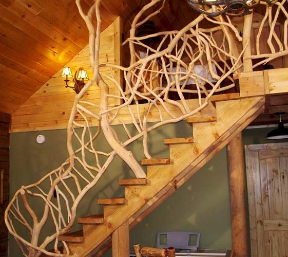 1000 images about cool handrails on pinterest rustic deck cabin and staircases - Build sealed fireplace home step step ...
