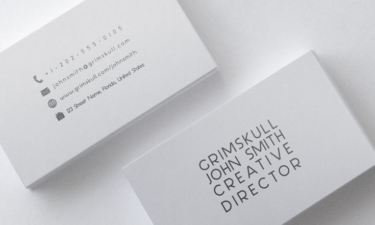 Minimalist White Business Card Template by Nik1010