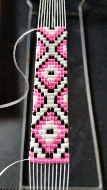 It's going to be a bracelet. .loom work #Loom #BeadWork