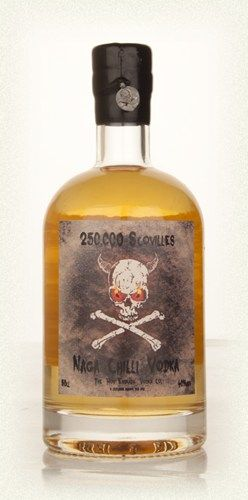 250,000 Scovilles - Naga Chilli Vodka 50cl (ships worldwide incl Aust)