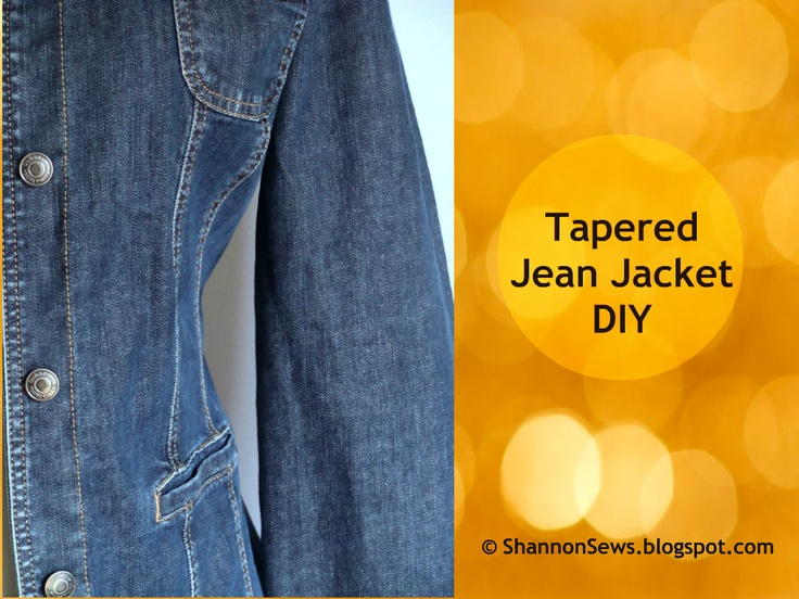 Taper a Jean or Lightweight Jacket: DIY