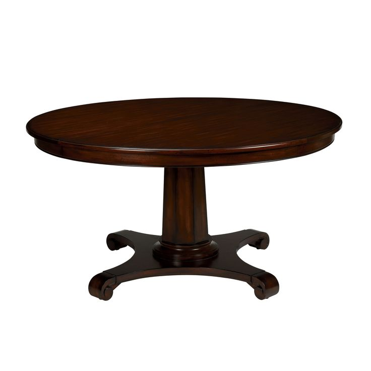 Sanders round dining table ethan allen finish is a little dark for me 58 round with leaf - Ethan allen kitchen tables ...
