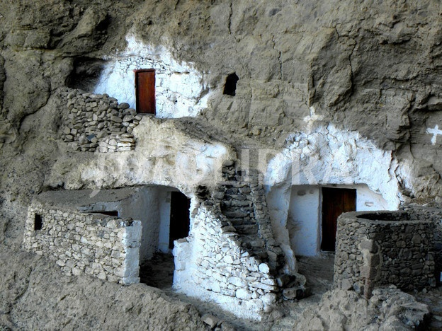 Cave houses at Guayadeque on Gran Canaria