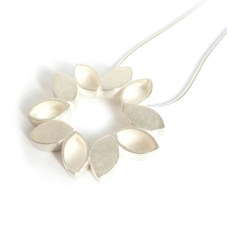 Silver duo necklace | Contemporary Necklaces / Pendants by contemporary jewellery designer Sue Lane
