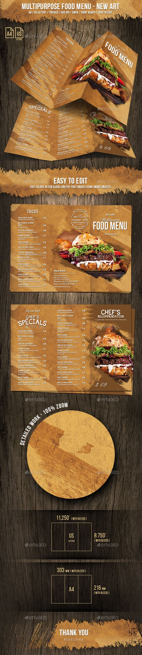 Best Best Food Menu Templates Images On