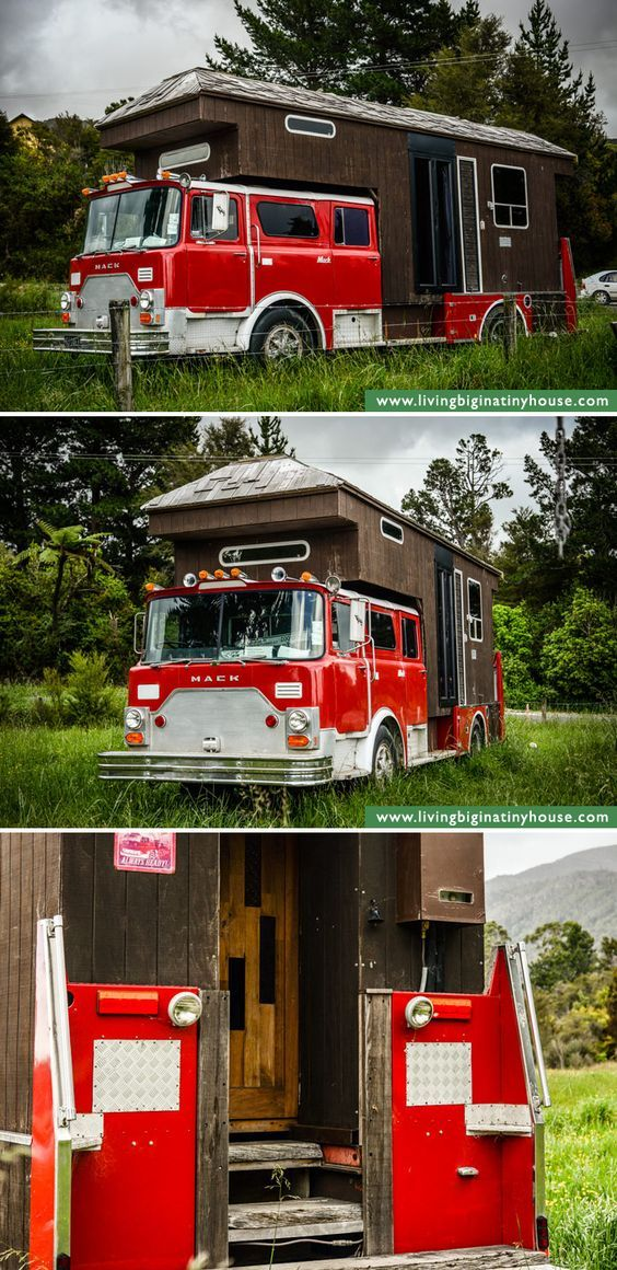 #DIY #Firefighter Idea: Recycle an old fire engine and convert it to a #camper or #RV. This is a truly a unique DIY project.