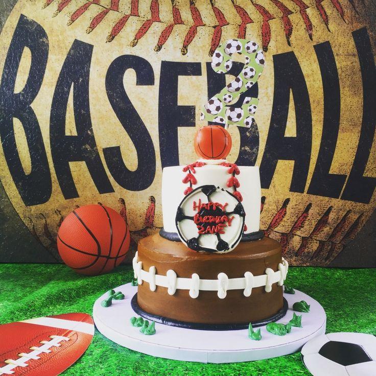 Project Nursery - Sports Theme Birthday Party Cake
