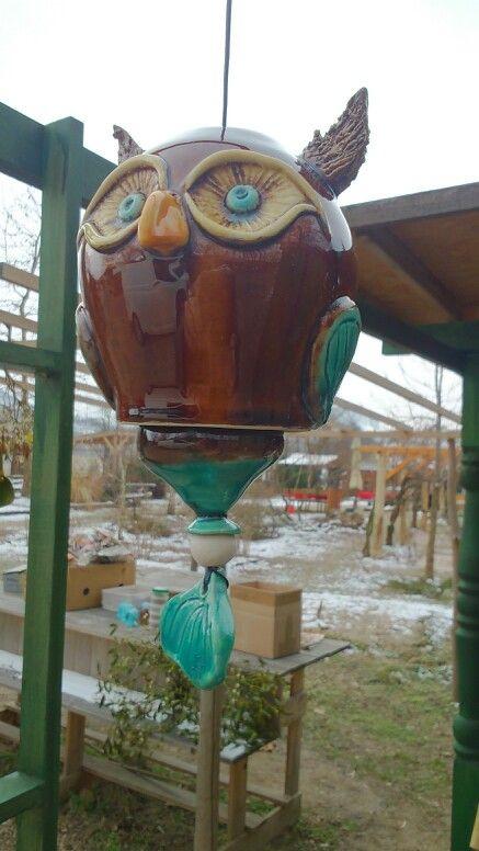 Bagoly szélcsengő/ owl windchime