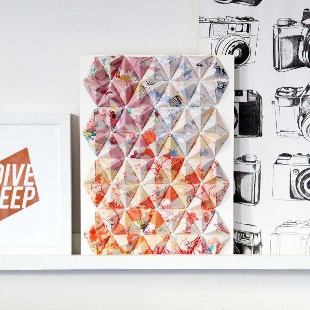 Оригинальная идея для дома: декор оригами на стену из бумаги! Мастер-классы по украшению стену объемными панелями оригами. Примеры декора стены оригами