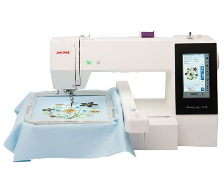 "The MC500E is the new embroidery only machine from Janome. With 160 built-in embroidery designs and 6 fonts for monogramming, the possibilities are endless. The MC500E has a maximum embroidery size of 7.9""x11"" and it comes with 4 embroidery hoops"