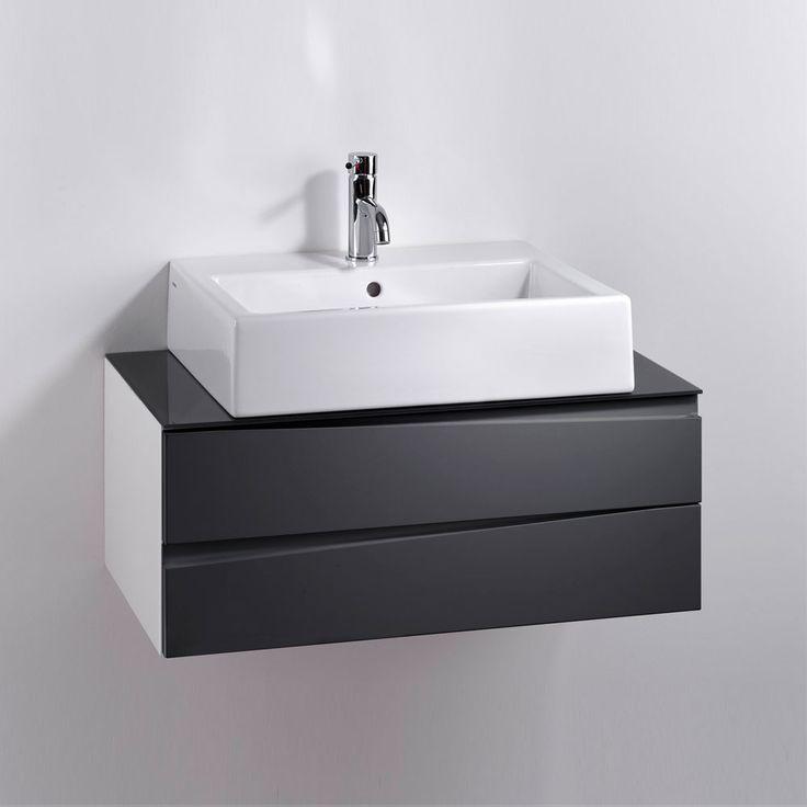 Die besten 25+ Dunkelgraue badezimmer Ideen auf Pinterest - badezimmerschrank mit waschbecken
